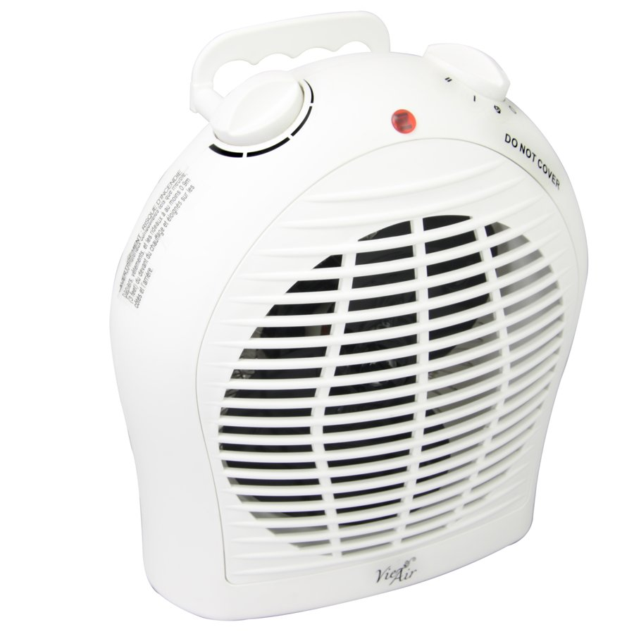 1500watt Portable 2 in 1 white fan heater with adjustable thermostat
